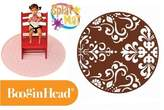 "Booginhead Splat Mat 52"" Round - w/ Brown Trim"