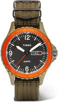 Timex Navi Land Stainless Steel And Nylon-Webbing Watch