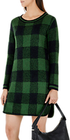 Marc Cain Knitted Check Dress, Pine Needle