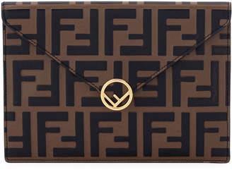 Fendi F Is Medium Busta Calf Envelope Clutch Bag