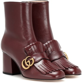 Gucci Marmont leather ankle boots