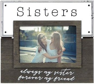 """New View Gifts & Accessories Sisters"""" Enamel Plank Frame"""