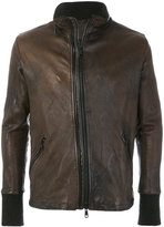 Giorgio Brato slim fit leather jacket