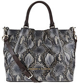 Dooney & Bourke As Is City Python Embossed Medium Leather Barlow Satchel