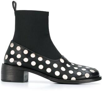 Marsèll polka dot detail sock boots