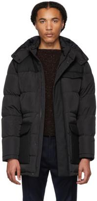 Ermenegildo Zegna Black Down Long Puffer Jacket
