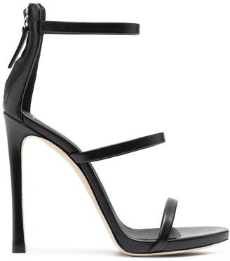Giuseppe Zanotti Triple-Strap Leather Sandals