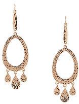 Natasha Accessories Hammered Chandelier Earrings