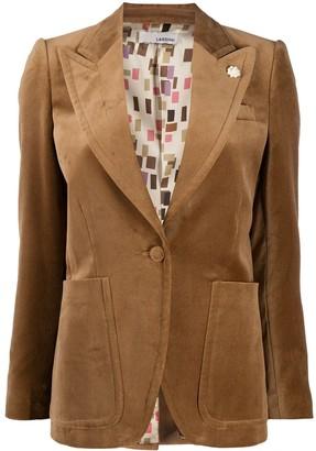 Lardini Velvet Effect Blazer Jacket