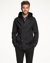 Le Château Textured Wool Double Breasted Peacoat