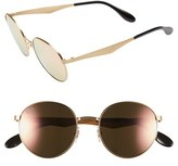 Ray-Ban Women's 'Highstreet' 51Mm Round Sunglasses - Gold/ Pink