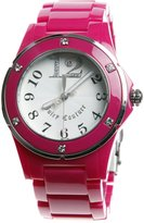 Juicy Couture 1900580 36mm Pink Plastic Band & Case Mineral Women's Watch