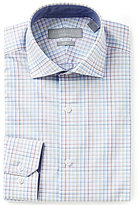 Perry Ellis Non-Iron Stretch Slim-Fit Spread-Collar Check Dress Shirt