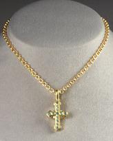 Elizabeth Locke Byzantine Cross Pendant, Small