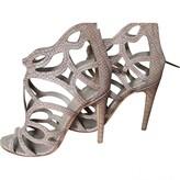 Christian Dior Beige Water snake Sandals