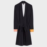 Paul Smith Women's Black Double-Faced Long Cardigan With Contrast Cuffs