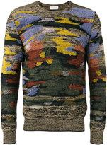 Dries Van Noten patchy intarsia jumper