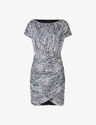 AllSaints Rosina patterned sequin mini dress