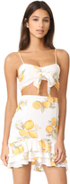 For Love & Lemons Limonada Crop Top