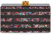 Edie Parker Jean Rainbow Confetti-Striped Box Clutch Bag