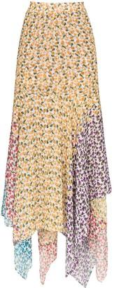 All Things Mochi Elisa asymmetric floral-print skirt