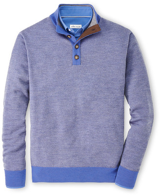 Peter Millar Men's Birdseye Wool Mock Sweater