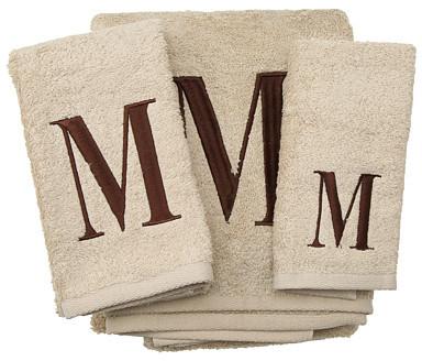 Avanti Premier Monogram Towel Set - Letter M