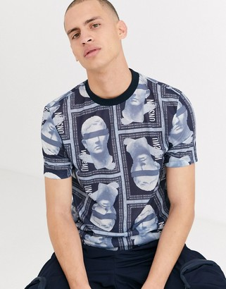 ASOS DESIGN t-shirt with all over historical figure repeat print