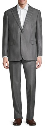 Saks Fifth Avenue Tailored-Fit Striped Wool Suit