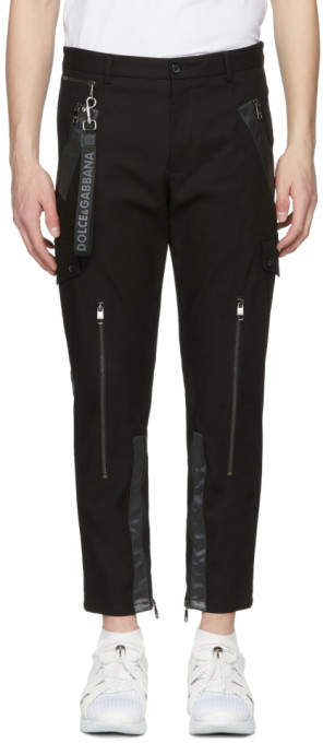 Dolce & Gabbana Black Cargo Pants