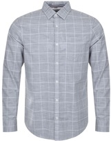 Original Penguin Pocket Check Shirt Grey