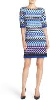 Eliza J Geo Print Jersey Shift Dress (Petite)