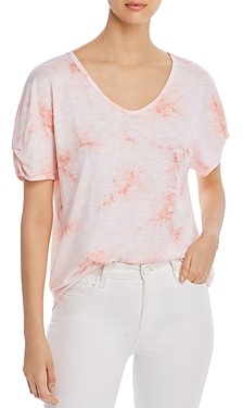 Cupio Printed Ruched-Sleeve T-Shirt