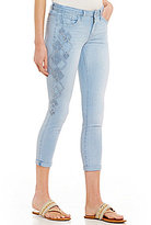 Jessica Simpson Embroidered Forever Rolled Skinny Jeans