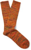 Anonymous Ism - Mélange Cotton-Blend Socks