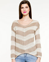 Le Château Stripe V-Neck Sweater
