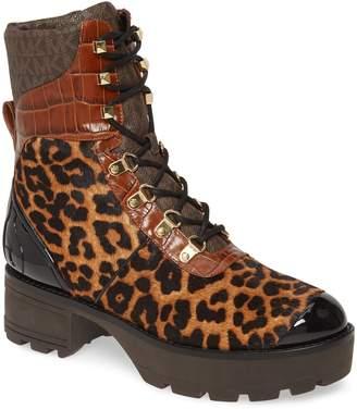 MICHAEL Michael Kors Khloe Genuine Calf Hair Combat Boot