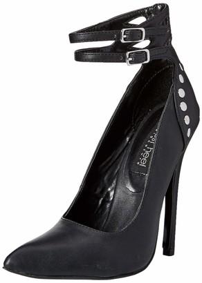 The Highest Heel Women's Sky 41 Double Ankle Strap Buckle 5-Inch Micro Heel Pump