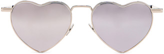 Saint Laurent Loulou Sunglasses in Shiny Silver | FWRD