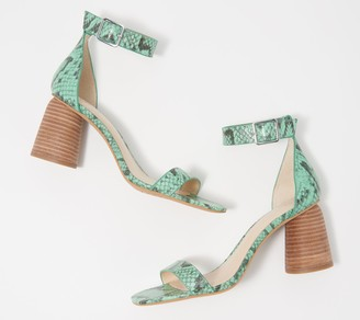 Vince Camuto Leather Two-Piece Heeled Sandals - Mejorla