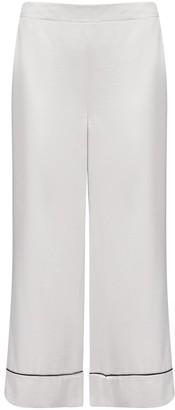 Blanca Vita Phoebe Viscose-blend Cropped Trousers