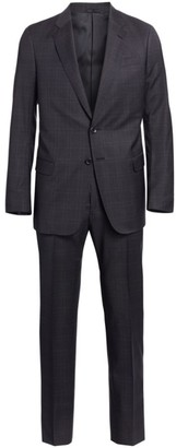Giorgio Armani Tonal Windowpane Wool Suit