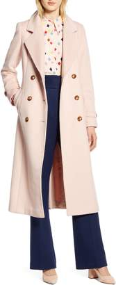 Halogen x Atlantic-Pacific Long Wool Blend Trench Coat