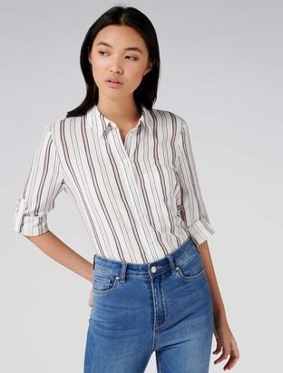 Forever New Melissa Multi Stripe Shirt - Pink Stripe - 4