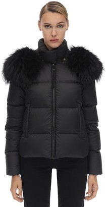 Mr & Mrs Italy Mr&Mrs Italy Hooded Airborne Puffer Jacket W/fur Trim