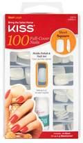 Kiss 100 Full Cover Nails Short Length, Square