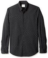 Perry Ellis Men's Long Sleeve Dot Sport Shirt