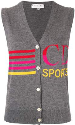 Christian Dior Pre-Owned Sports knitted vest