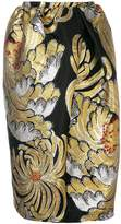 Rochas metallic brocade skirt