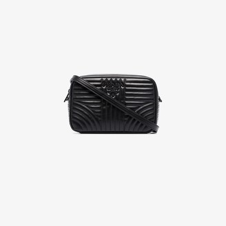 Prada Black Diagram quilted camera bag